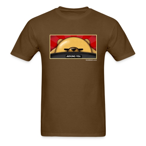 Bear is Judging You (color image) - Men's T-Shirt