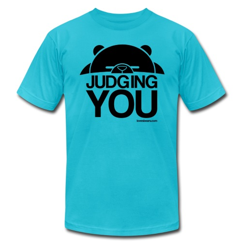 Judgy Bear (Judging You) - Men's Fine Jersey T-Shirt