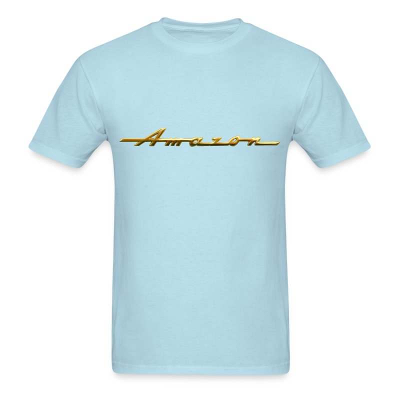 classic amazon gold script emblem t shirt spreadshirt. Black Bedroom Furniture Sets. Home Design Ideas