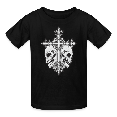 Gothic Cross with Skulls Kids' Shirts