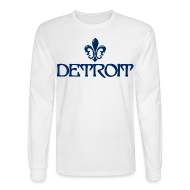 Long Sleeve Shirts ~ Men's Long Sleeve T-Shirt ~ Fleur De Lis Detroit