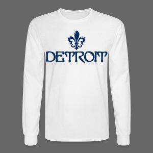 Fleur De Lis Detroit - Men's Long Sleeve T-Shirt