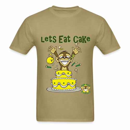 Monkey Pickles Lets Eat Cake - Men's T-Shirt