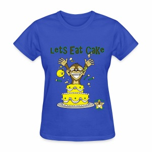 Monkey Pickles Lets Eat Cake - Women's T-Shirt
