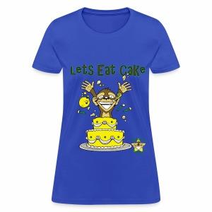 Monkey Pickles Lets Eat Cake - Women's T-Shirt