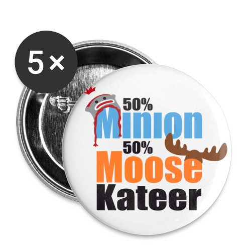 50% Minion 50% MooseKateer - Small Buttons