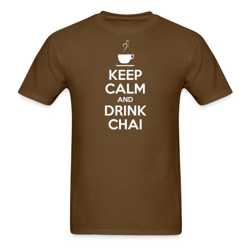 KEEP CALM AND DRINK CHAI - Men's T-Shirt