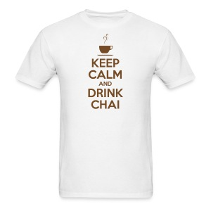 KEEP CALM AND DRINK CHAI - Men's T-Shirt