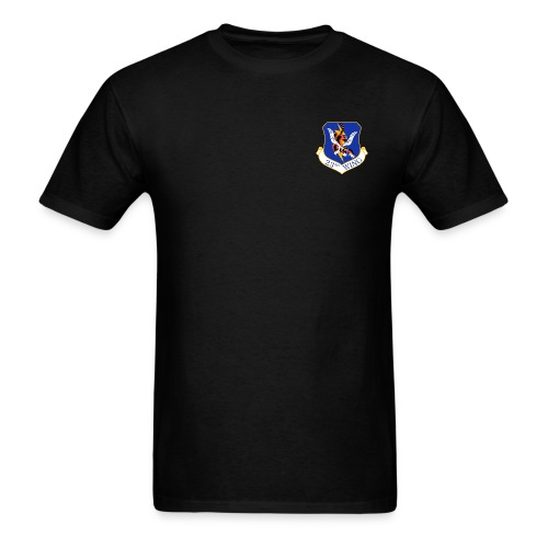 23rd WING AIR FORCE RESCUE black - Men's T-Shirt