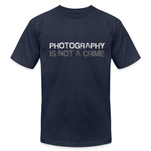 Photography is not a crime - Men's T-Shirt by American Apparel