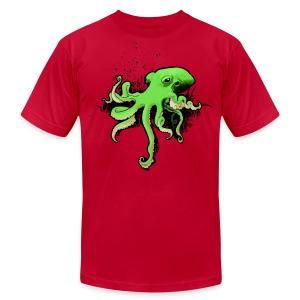 Green Octopus - Men's Fine Jersey T-Shirt
