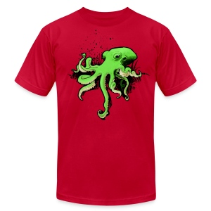 Green Octopus - Men's T-Shirt by American Apparel