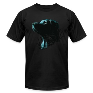 Black Labrador Royale - Men's T-Shirt by American Apparel