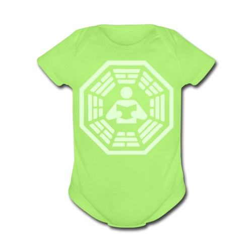 DHARMA Initiative Station: The Reader (Glow-In-The-Dark) - Organic Short Sleeve Baby Bodysuit