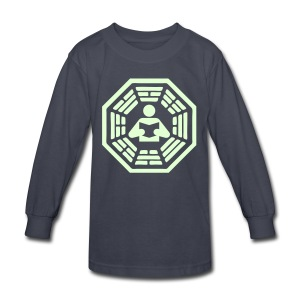 DHARMA Initiative Station: The Reader (Glow-In-The-Dark) - Kids' Long Sleeve T-Shirt