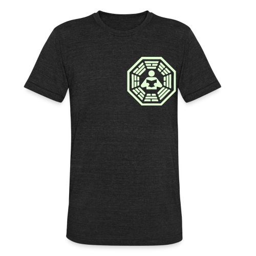 DHARMA Initiative Station: The Reader (Glow-In-The-Dark) - Unisex Tri-Blend T-Shirt