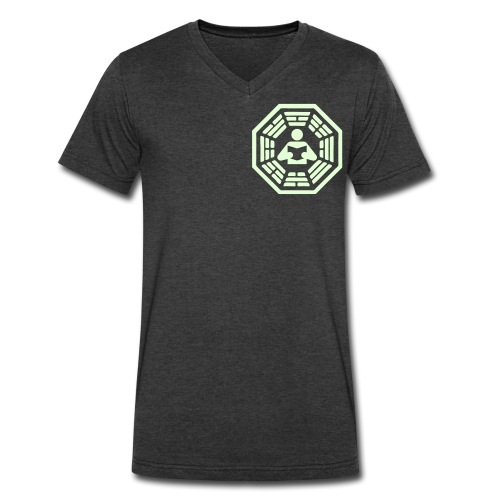 DHARMA Initiative Station: The Reader (Glow-In-The-Dark) - Men's V-Neck T-Shirt by Canvas