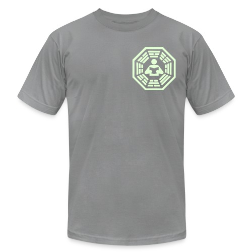 DHARMA Initiative Station: The Reader (Glow-In-The-Dark) - Men's Fine Jersey T-Shirt