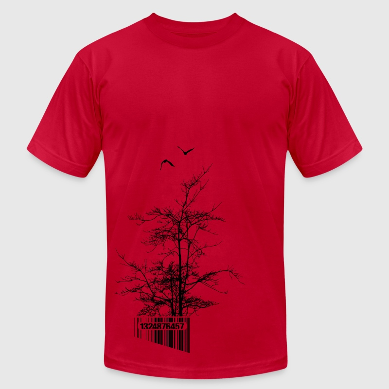 U.P.Tree Code T-Shirts - Men's T-Shirt by American Apparel