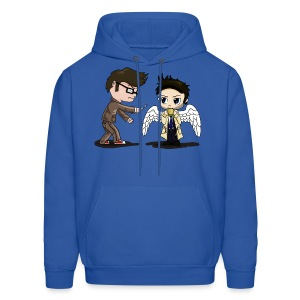 Superwho: The Doctor & Castiel - Men's Hoodie