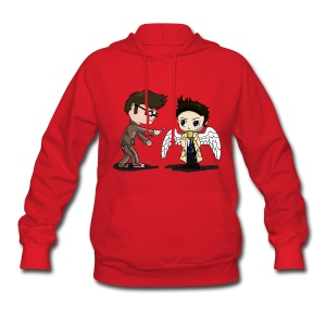 Superwho: The Doctor & Castiel - Women's Hoodie