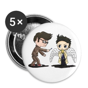 Superwho: The Doctor & Castiel - Small Buttons