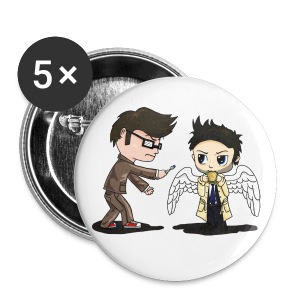 Superwho: The Doctor & Castiel - Large Buttons