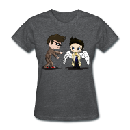 T-Shirts ~ Women's T-Shirt ~ Superwho: The Doctor & Castiel