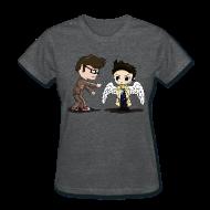 Women's T-Shirts ~ Women's T-Shirt ~ Superwho: The Doctor & Castiel