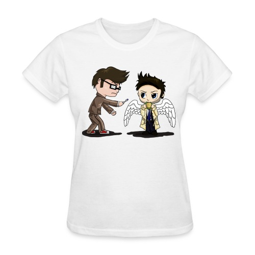 Superwho: The Doctor & Castiel - Women's T-Shirt