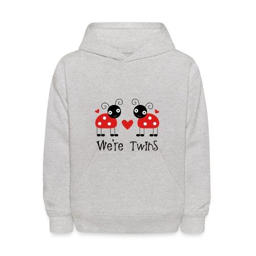 we are twins pullover hoodie - Kids' Hoodie
