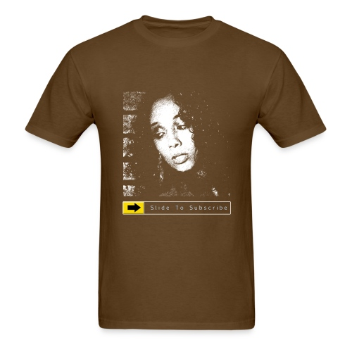 BkAngel310 Slide To Subscribe - Men's T-Shirt