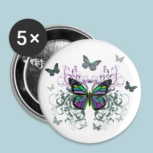 MultiColored Butterflies - Small Buttons