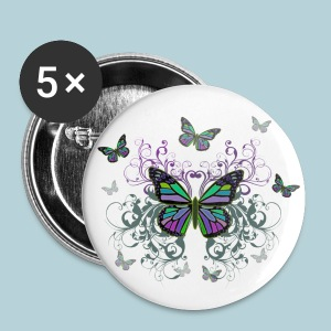 MultiColored Butterflies - Large Buttons