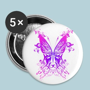 Pink N Purple Butterfly - Small Buttons