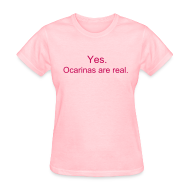 Women's T-Shirts ~ Women's T-Shirt ~ Ocarinas are Real (Girls)