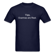 T-Shirts ~ Men's T-Shirt ~ Ocarinas are Real (Guys)