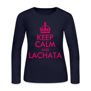 [f(x)] Keep Calm & La cHA tA - Women's Long Sleeve Jersey T-Shirt