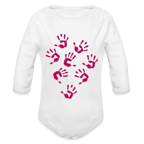 Baby hands Baby longsleeve one piece - Organic Long Sleeve Baby Bodysuit