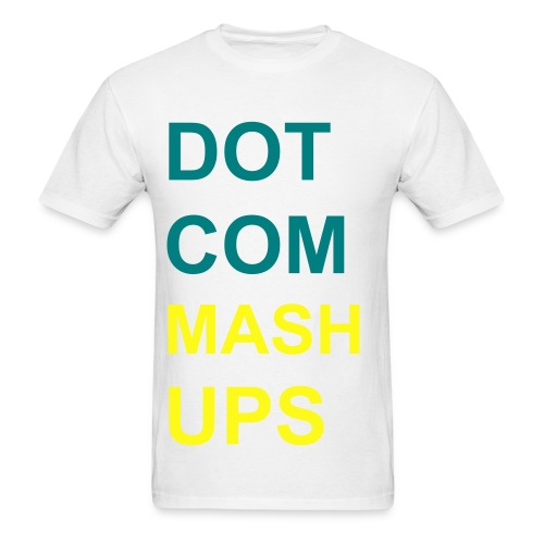 Vertical Teal and Yellow - Men's T-Shirt