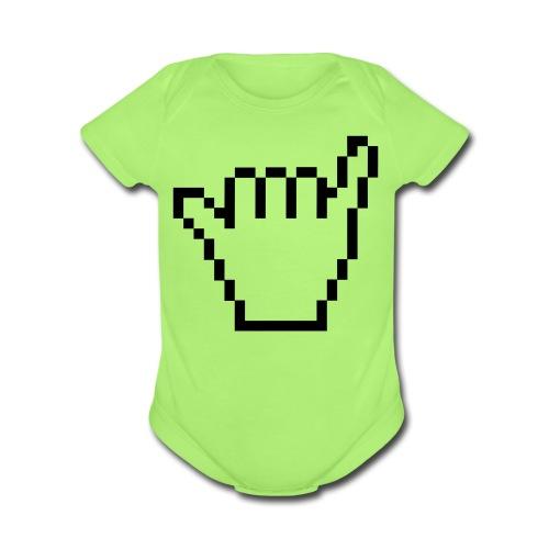 8-Bit Shaka - Organic Short Sleeve Baby Bodysuit