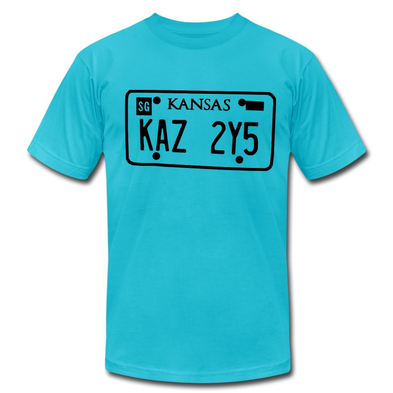 Impala license plates t shirt spreadshirt for T shirt licensing agreement