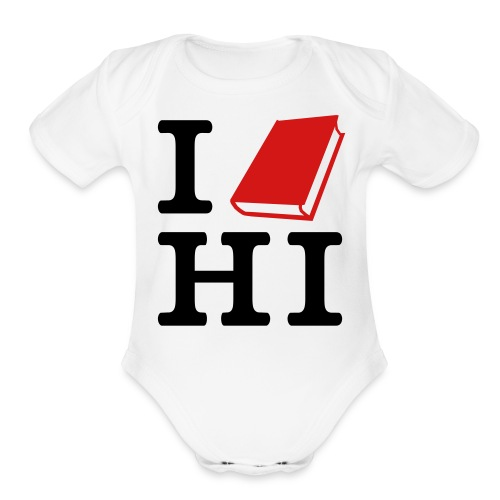 I [Read] HI - Organic Short Sleeve Baby Bodysuit