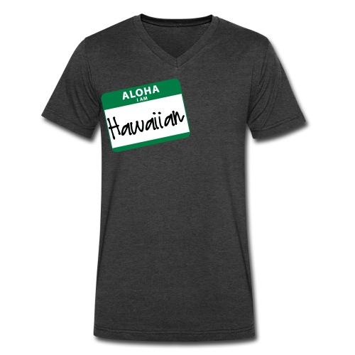 Nametag - I Am Hawaiian - Men's V-Neck T-Shirt by Canvas