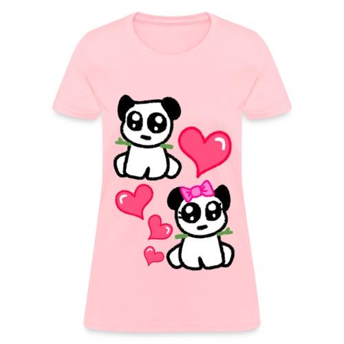 Panda hearts - Women's T-Shirt