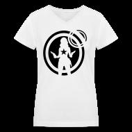Women's T-Shirts ~ Women's V-Neck T-Shirt ~ Cowgirl Silloute