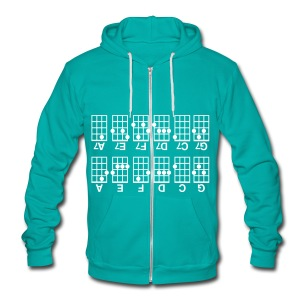 Beginner's Ukulele Cheat Sheet - Unisex Fleece Zip Hoodie by American Apparel