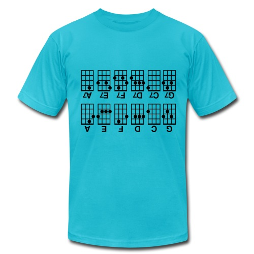 Beginner's Ukulele Cheat Sheet - Men's Fine Jersey T-Shirt