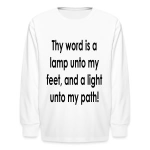 Thy word is a lamp  - Kids' Long Sleeve T-Shirt