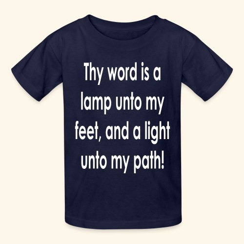 Thy word is a lamp  - Kids' T-Shirt